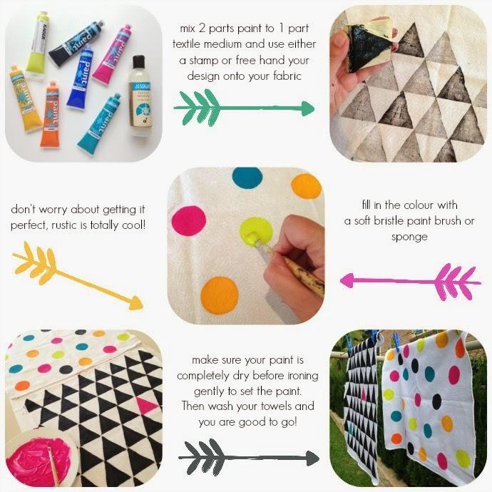 DIY Painted Tea Towels - AKA Productive Procrastination