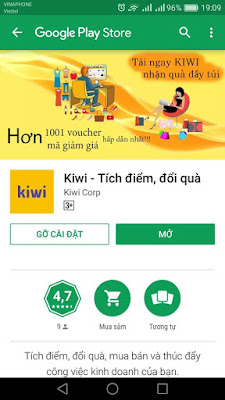 kiwi, kiwi kiếm tiền, kiwi kiếm thẻ cào, kiem the cao, kiem tien online, tích điểm đổi quà