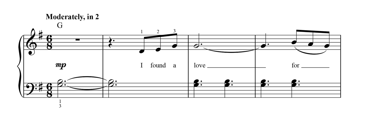 Easy Piano Sheet Music Notation Sample