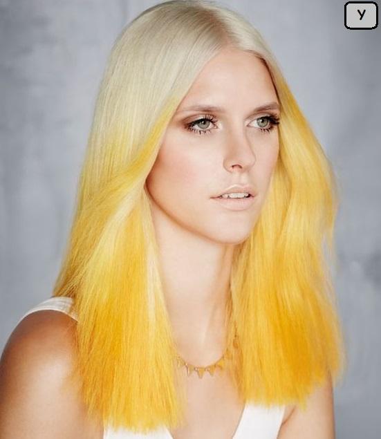 gaya rambut terbaru 2017 cat kuning