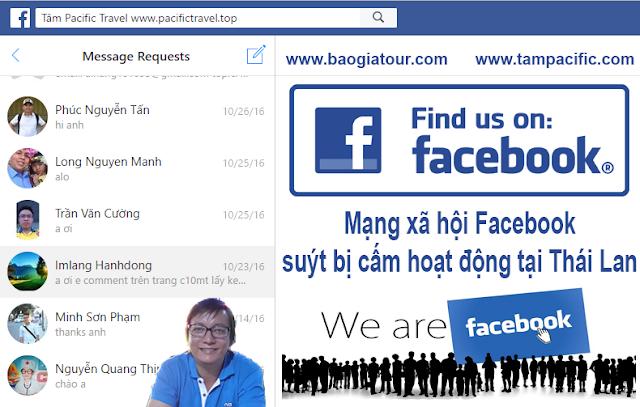 Mạng xã hội Facebook suýt bị cấm hoạt động tại Thái Lan