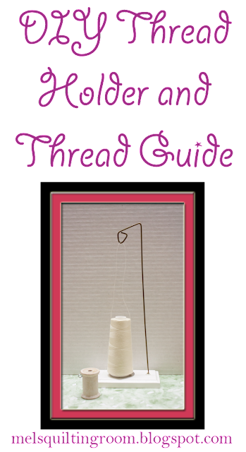 diy cone thread holder and thread guide