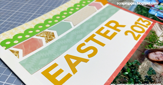 Spring Blog Hop stop #4 Easter layout featuring Creative Memories Hello Baby Collection
