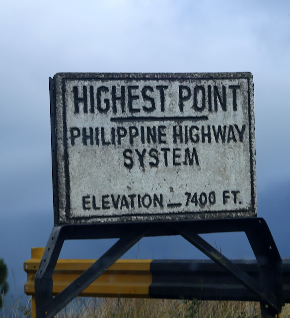 signage of  Highest Point in the Philippine Highway System