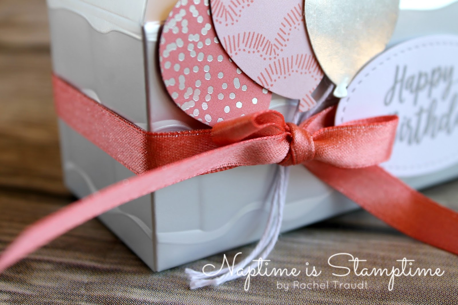 Naptime is Stamptime: Happy Birthday Silver Mini Gable Box