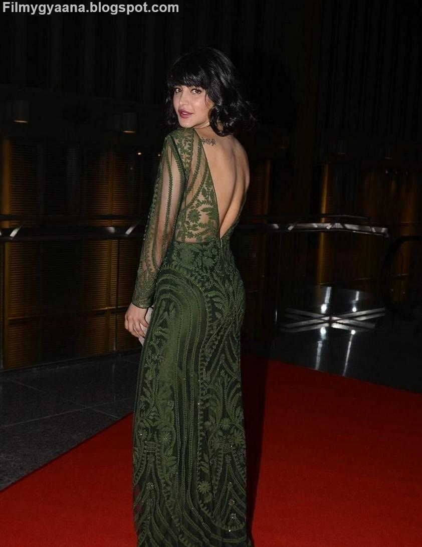 Shruti Hassan Hot Photos In Backless Gown At Siima Awards -7959