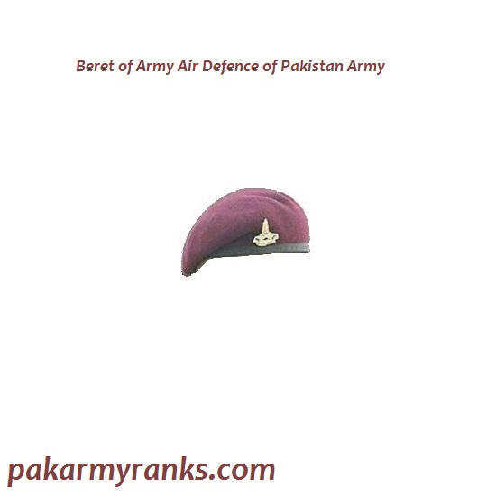 Beret Of Army Air Defence Corps Of Pak Army