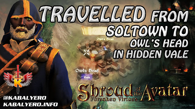 Shroud Of The Avatar Gameplay 2016 ★Travelled To Owl's Head In Hidden Vale From Soltown In Novia