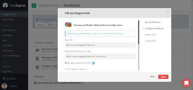 free web push notifications for blogger blogspot