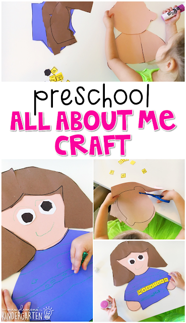 This All About Me name craftivity is fun for name and fine motor practice with an all about you theme. Great for tot school, preschool, or even kindergarten!