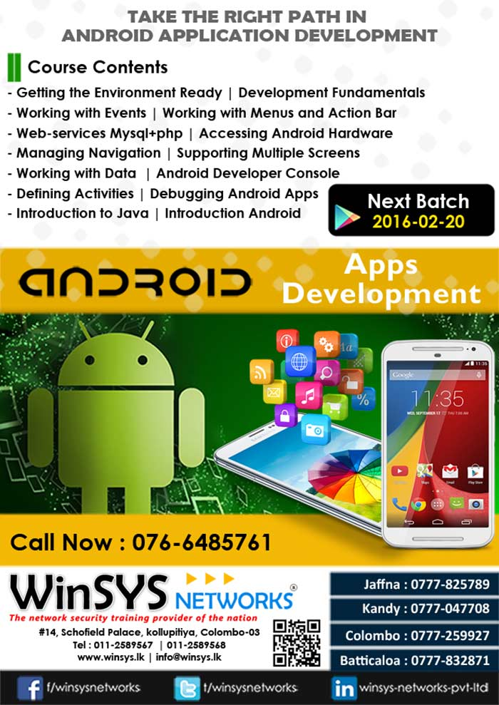 WinSYS Networks (Pvt) Ltd. was established in May 2003 with the prime intention of providing Hi Tech training and Consulting for corporate sector. In short period of time we have built reputation as a professional organization of very high integrity. Today WinSYS Networks, has become a premier training & consultancy company for networking, network security, & internet technologies in Sri Lanka, Human resources of WinSYS Networks include senior network consultants, business consultants, network security experts, project managers, system analysts and professional trainers.
