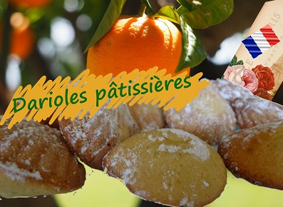 Petits gâteaux parfumés à l'orange ou au citron, dessert de la fete nationale