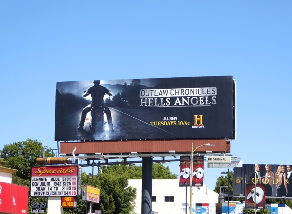 Outlaw Chronicles Hells Angels series premiere billboard