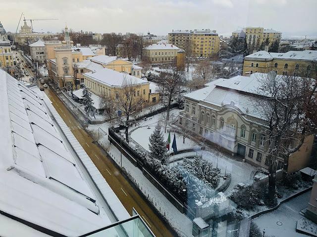 Sense Hotel Sofia vistas nevada