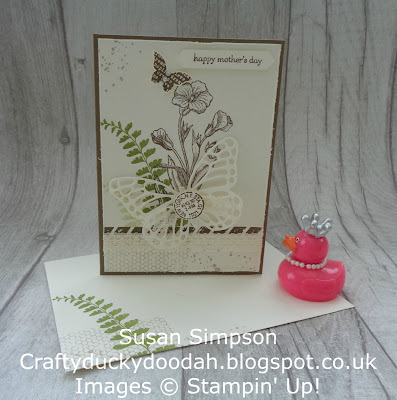 Craftyduckydoodah!, Stampin' Up! UK Independent  Demonstrator Susan Simpson, Butterfly Basics, Coffee & Cards project March 2018, Supplies available 24/7 from my online store,