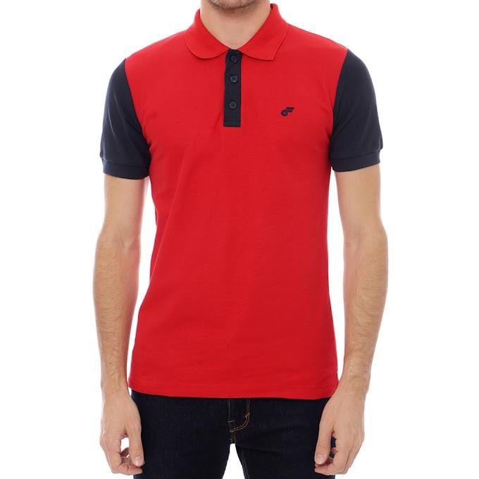 Kaos Polo Shirt Pria Kerah Premium Diamond Red