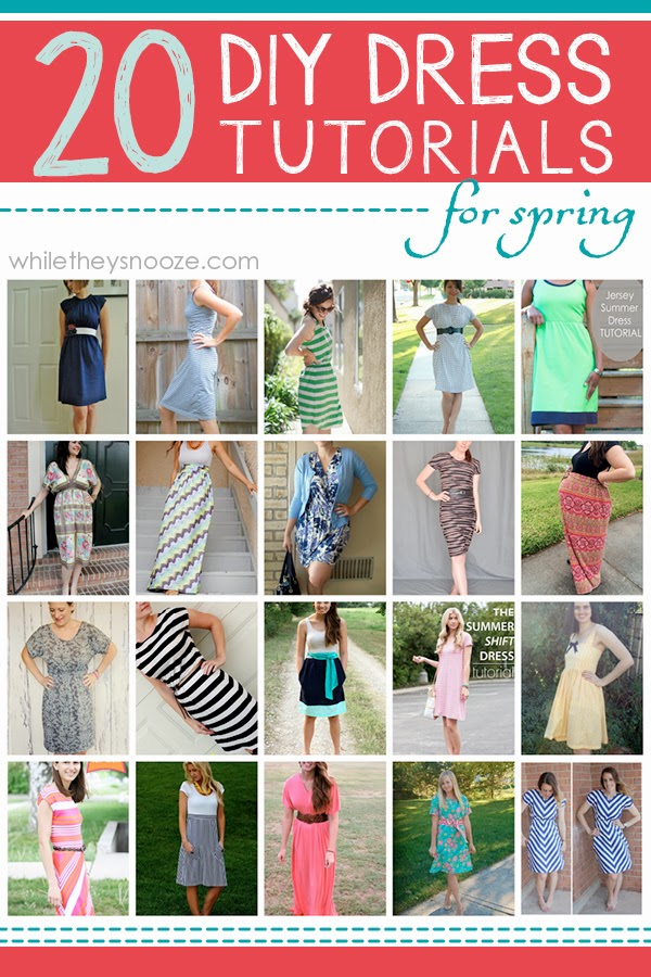 03fd7b773222 While They Snooze  20 DIY Dress Tutorials for Spring