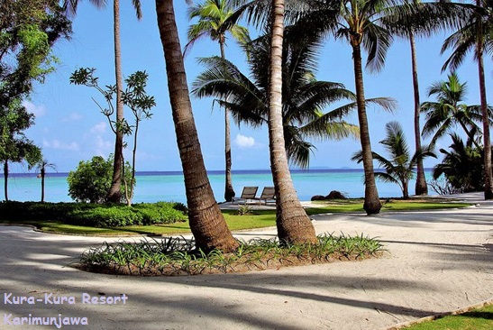pantai sekitar kura kura resort karimunjawa