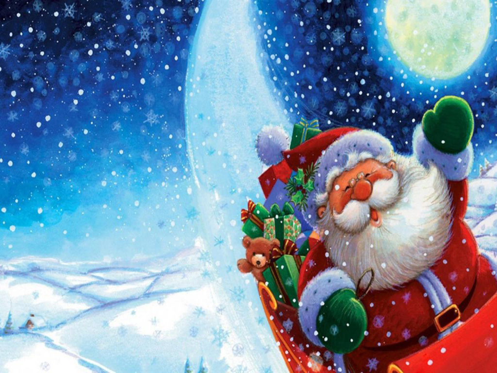 Free merry christmas santa claus hd wallpapers for ipad - Free christmas wallpaper backgrounds ...