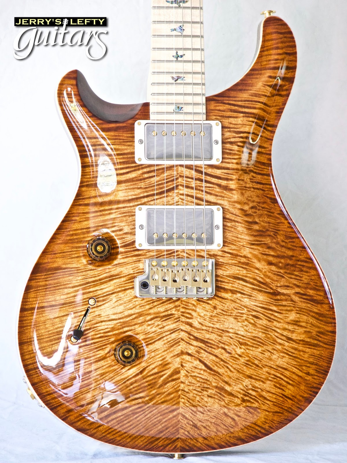 jerry 39 s lefty guitars newest guitar arrivals updated weekly prs custom 24 wood library. Black Bedroom Furniture Sets. Home Design Ideas