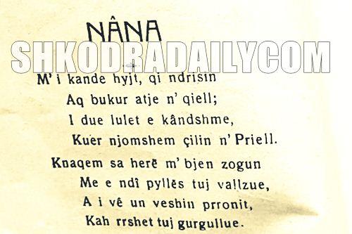 Poezi për nënën - Nana