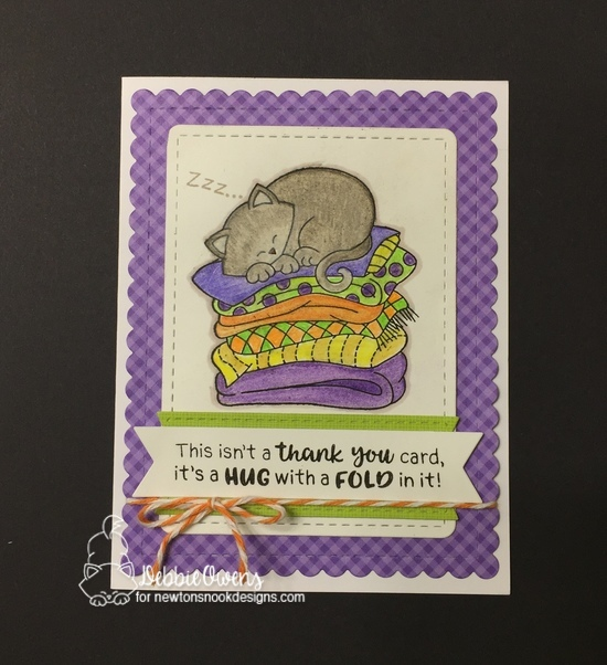 This isn't a thank you card by Debbie features Newton's Naptime, Thankful Thoughts, and Frames & Flags by Newton's Nook Designs; #newtonsnook