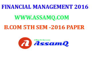 Financial Management Previous Year Question Papers Of Guwahati University,
