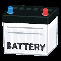 車のバッテリーのイラスト(青赤)