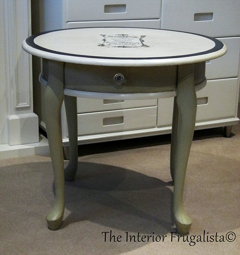 French Graphic Queen Anne Table
