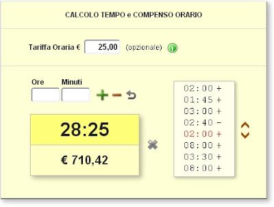 calcolatrice oraria
