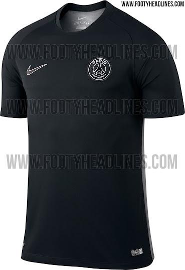 7df8417e4 Paris Saint-Germain 15-16 Pre-Match and Training Shirts Released ...