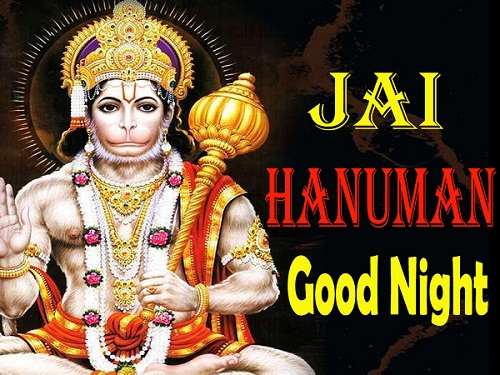 Lord Hanuman Good Night Photo for Friends