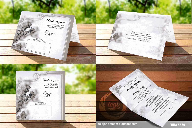 Download Desain Undangan Pernikahan Minimalis Erba 8879 Versi