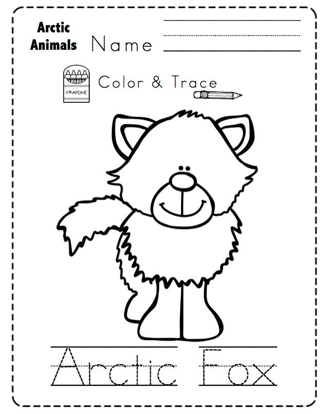arctic animals no prep printable preschool printables. Black Bedroom Furniture Sets. Home Design Ideas