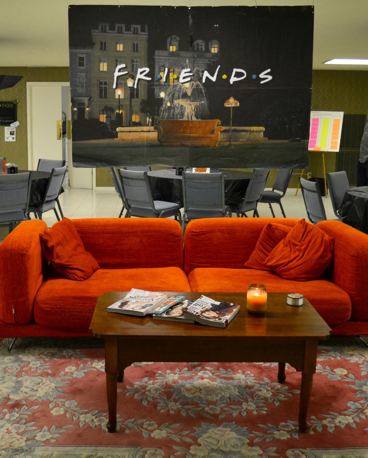 Friends Sofa Replica Accent Chairs For Black Leather Southern Bluebird Day