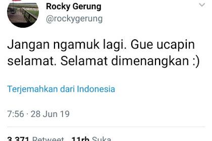 Ucapan Selamat Rocky Gerung Kepada Jokowi Bikin Kesal Pendukungnya.