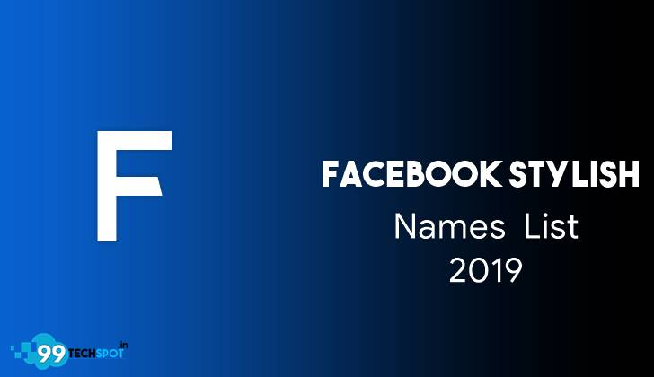 Facebook stylish name list 2019