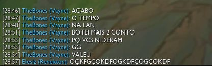 BR sendo BR, pérolas do chat lol