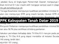 P3K Tahap I - Kabupaten Tanah Datar (Guru, kesehatan dan Penyuluh Pertanian) @145 Orang