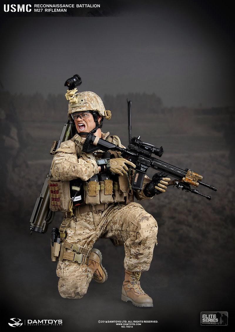one sixth military figure dam toys usmc reconnaissance battalion m27 rifleman. Black Bedroom Furniture Sets. Home Design Ideas