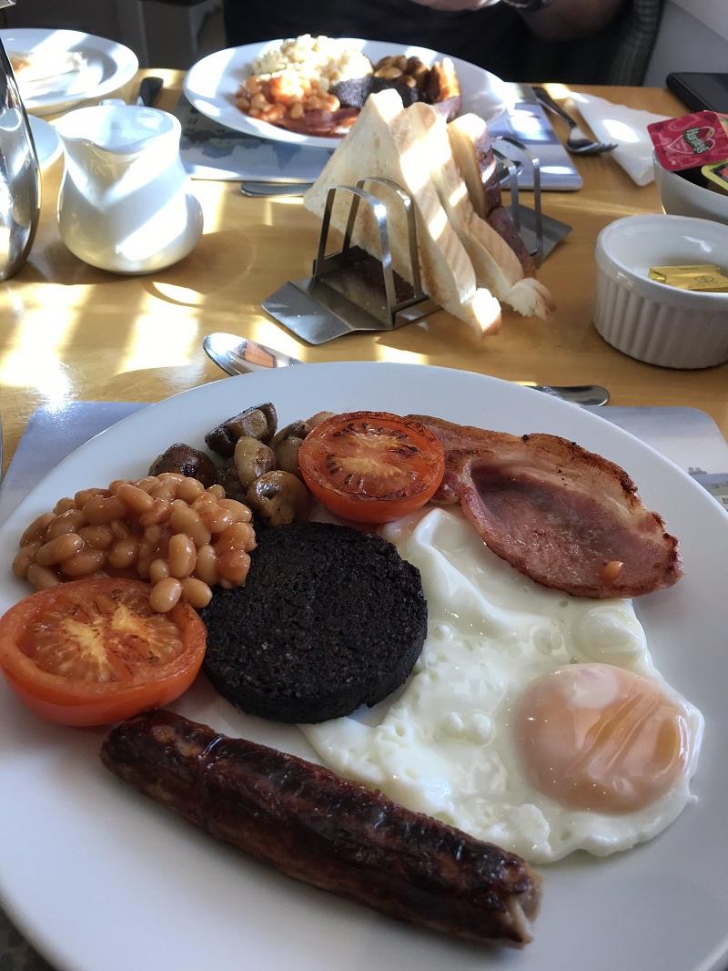 Scottish breakfast at Aald Harbour B&B