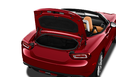 FIAT 124 Spider open the trunk