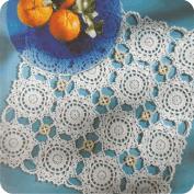 "Tapete ""Tres en raya"" a Crochet"