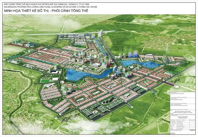 Phối cảnh tổng thể khu đô thị Thanh Hà cienco 5
