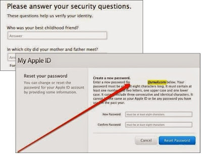 cara reset password apple id