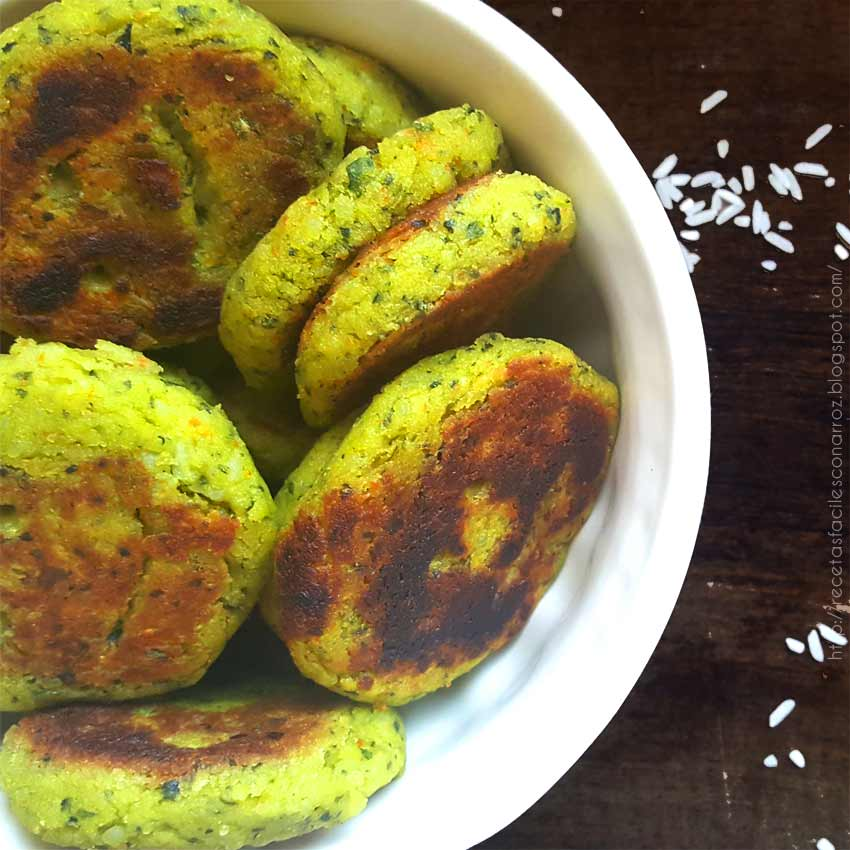 croquetas arroz lechuga