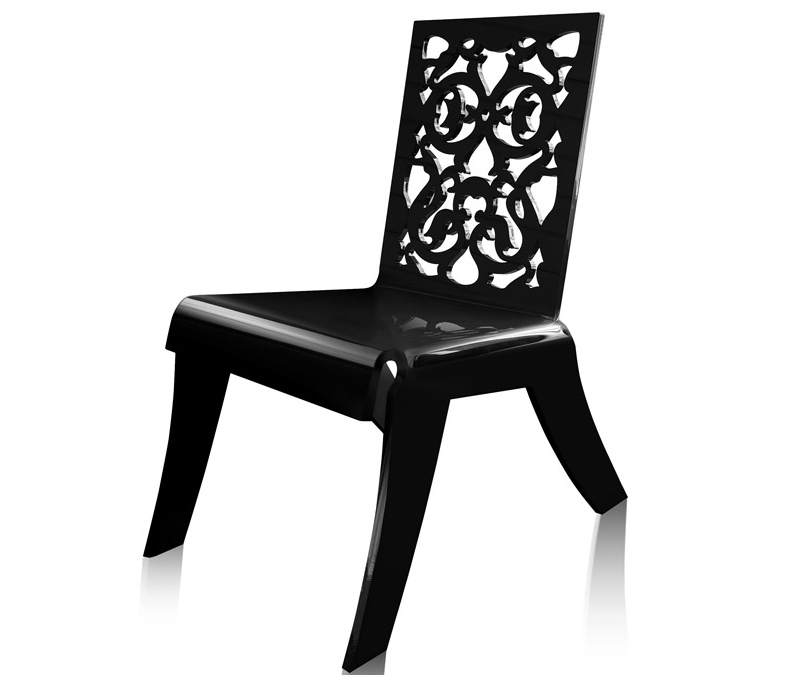 black or white furniture. acrila modern acrylic furniture that goes from baroque to pop art black or white n