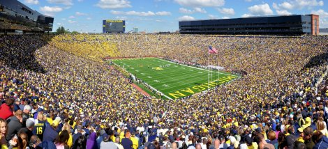 Michigan Stadium at the University of Michigan in Ann Arbor