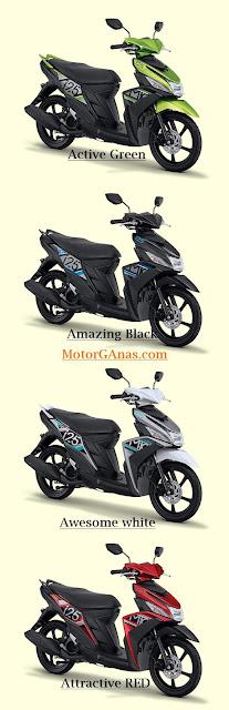 Pilihan Warna Yamaha Mio M3 125