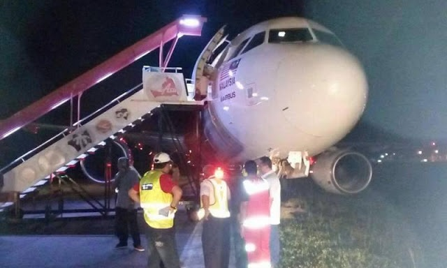 Pesawat AirAsia Tergelincir di Lapangan Terbang Sultan Ismail Petra